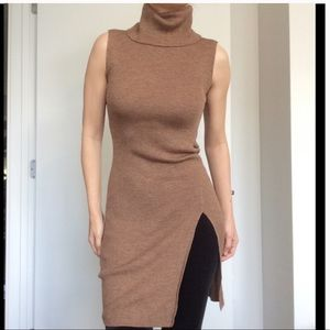 BCBG Turtleneck Wool tunic sweater
